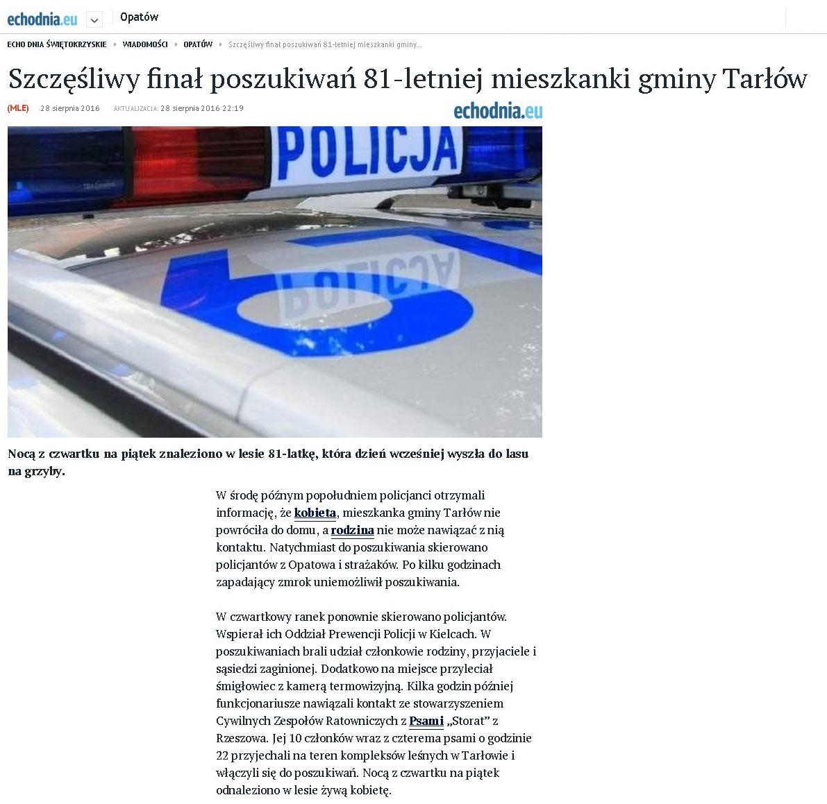 2016.08.28._szczesliwy.final.poszukiwan.81-letniej.mieszkanki.gminy.Tarlow